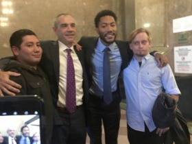 Is There A Worse Look Than Jurors Smiling and Posing For Pictures With Derrick Rose 2 Minutes After Declaring Him Not Guilty Of Gang Rape?