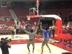 And Here We Have Joel Embiid Getting Super Jiggy Wit It On The Court Without Breaking Any Limbs