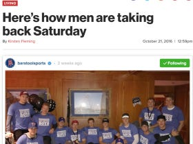 Not A Bad Article In The New York Post About How The Boys Are Taking Saturdays Back
