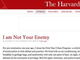 Rate This Column…Harvard Social Justice Warrior Puts Her Fellow Social Justice Warriors On Blast
