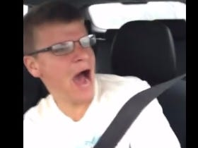 Jackass Records Himself Singing While Driving So Naturally He Flips His Car