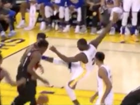 "Draymond Green Was Back To ""Mistakenly"" Kicking Opponents Again Last Night"