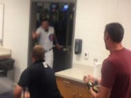 Kyle Schwarber Got His Own Personal Champagne Celebration Down In Arizona