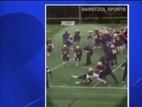Merrimack College Homecoming Football Game Ends In Massive Brawl During Handshake Lines