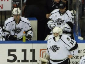 Goalie Makes His AHL Debut, Starts Over His Emergency Backup Father