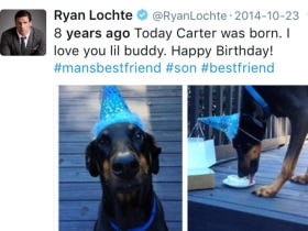 Ryan Lochte Has No Clue How Old His Dog Is