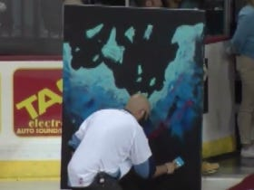 You Have To Watch This Man Sing The National Anthem While Painting Because The Payoff At The End Is Awesome