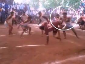 Turns Out That Kabaddi (Extreme Tag) Is A Great Way To Nearly Get Your Head Kicked Off Your Shoulders
