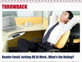 Throwback – Reader Email: Jerking Off At Work…What's the Ruling?