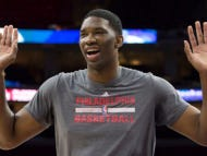 """Joel Embiid Learned How To Shoot By """"Watching Regular White People"""" Stroke"""