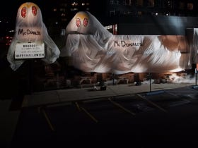 A Burger King In Queens Is Dressed Up As A McDonald's For Halloween