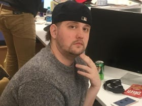 How About This Bostonian Bitchtits Coley Staking Claim As The Best Mario Kart Player In The Office?  A Bet Has Been Made (And My Family May Disown Me)