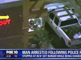 The Police Allowed This Man To Stop At In-N-Out During A High Speed Chase