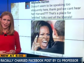 "University of Colorado Professor Under Fire For Calling Michelle Obama A ""Monkey Face"" Isn't Racist, She's Just ""Calling It Like It Is"""