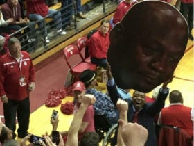 Isiah Thomas Holding Up A Gigantic Crying Michael Jordan Face As Indiana Pummeled UNC Was Savagely Disrespectful
