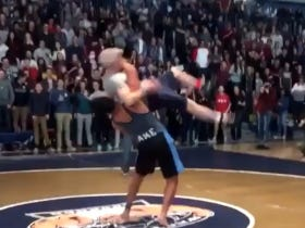 High School Wrestler Lives Out Every Kid's Dream, Suplexes His Principal In Front Of Whole School