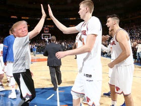 Kristaps Porzingis Thinks People Should Give Donald Trump A Chance As President Since Knicks Fans Booed Him On Draft Night