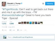 Donald Trump Officially Throws His Support Behind Tiger Woods