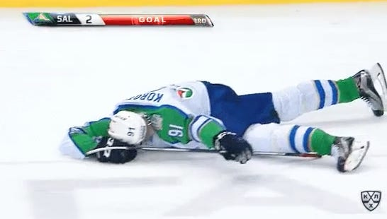 Don't Tell This KHL Player That Dabbing Is Dead
