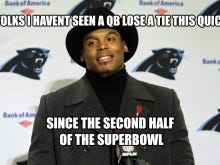 A Source Tells Me Cam Newton Was Benched for Being at a Strip Club, Not for Failing to Wear a Tie