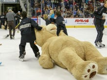 The Hershey Bears Teddy Bear Toss Is The Best Way To Ease Into a Monday Morning