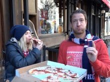 Barstool Pizza Review - Lombardi's Featuring Ashley Benson