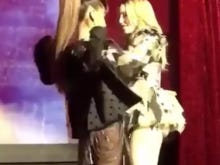 Madonna Put Her Disgusting Possible Ass Implants On Display Twerking With Ariana Grande At A Benefit