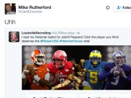 Louisville Recruiting Twitter Account Casts Its Official Heisman Vote For…Jabrill Peppers.