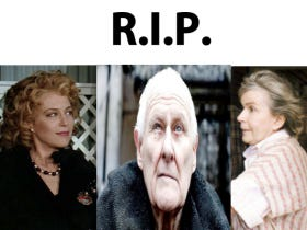 2016 Continues To Be The Worst Year Ever After Mrs. Finkle, The Owner From Major League, And Maester Aemon Targaryen Died Over The Last 4 Days