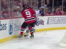 Vancouver's Philip Larsen Stretchered Off Ice In New Jersey After Huge Hit From Taylor Hall