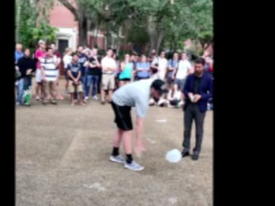 This UF Kid Who Broke The Tension Of A Campus Protest By Flipping A Gallon Of Water Is The Hero College Deserves