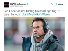 Jeff Fisher Isn't Mad, This Is Actually Funny To Him