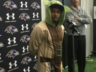 Steve Smith Sr Looking Dapper While Talking To The Media Today