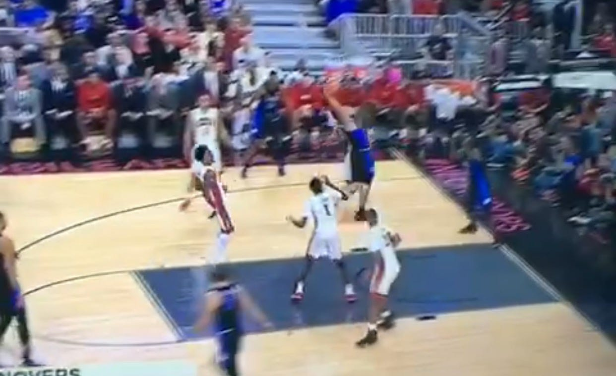 Grayson Allen Throws Down The Hammer Of God