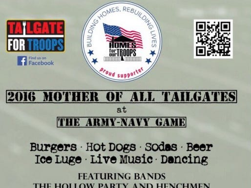 Stoolies Are Already Taking Over At Army Vs. Navy. We Need Your Help To Build A Home For A Wounded Veteran.