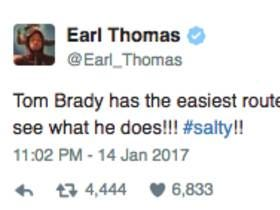 Earl Thomas Says Tom Brady And The Patriots Have An Easy Route So They Should Try Playing In The NFC West