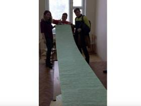 Students In Russia Caught With A 12-Foot Long Cheat Sheet For Their Physics Exam