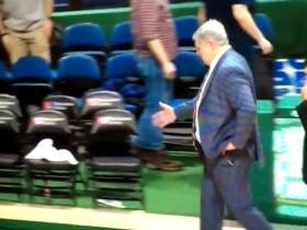 Siena Coach Jimmy Patsos Was Forced To Handshake The Air After Tonight's Game Because Rider Coaches And Players Left The Court Without Shaking Hands