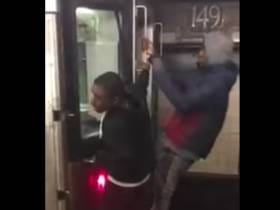 VIDEO: Shout Out To These Young Bucks Riding On The Back Of The Subway Car