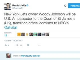 Woody Johnson Appointed Ambassador To The United Kingdom