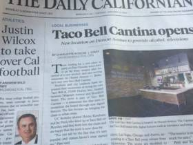 The Biggest News On The Cal Campus Was The Opening Of a New Taco Bell, Above The Hiring Of Their New Football Coach
