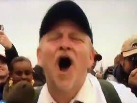 Trump Supporter Looks Like A Normal Person While Screaming Daddy Is Home