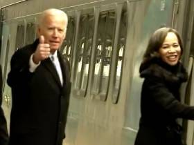 Joe Biden Hopping On A Train On His Way Outta Washington DC Was My Favorite Moment Of The Inauguration
