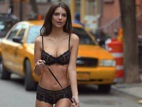 Breaking: Emily Ratajkowski Walked A Dog