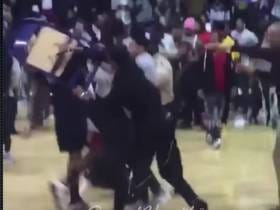 D2 Hoops Game Turns Into An All Out Brawl Featuring A Dude Getting Smashed In The Head With A Chair