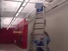 I Want To Make Fun Of This Guy For Using A Ladder Incorrectly, But I Really Can't