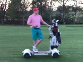 I Played A Round Of Golf On A Motorized Surfboard This Weekend