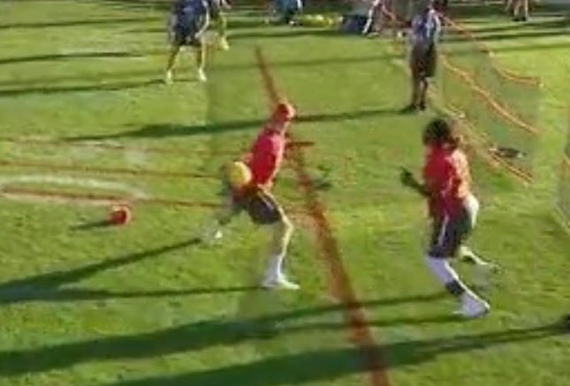 Alex Smith Throws A Dodgeball Like It's 3rd And 8