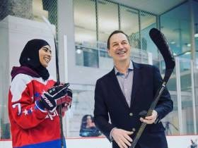 Fatima From The UAE Practiced With The Caps And Got To Meet Ovi