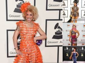 This Unnamed Woman Shows Up To The Grammys Every Year In Something Ridiculous And Nobody Even Knows Her Name